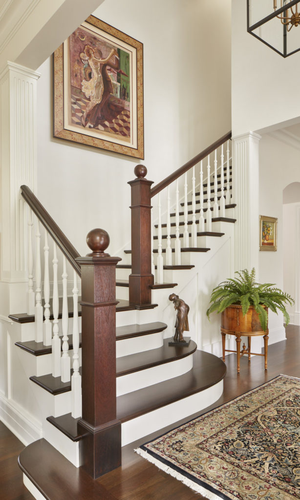 Classic staircase design in Bellevue.
