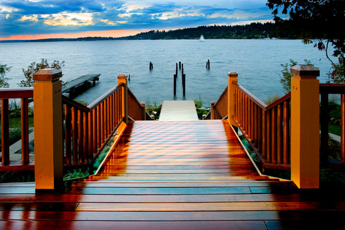 Embracing the best of the Seattle summer with a stunning staircase to the Sound.
